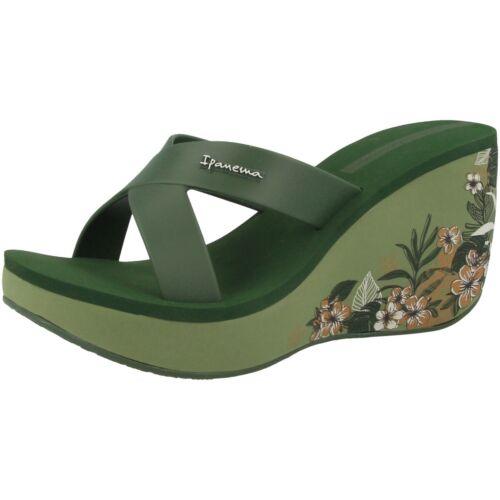 Ipanema Lipstick Straps V Fem Damen Plateau Keil Sandale Schuhe green 82534-8550