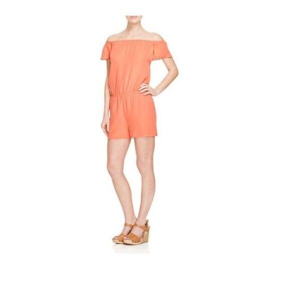 100% NEW Rebecca Minkoff Lovino Off The Shoulder Romper Size XS  248.00