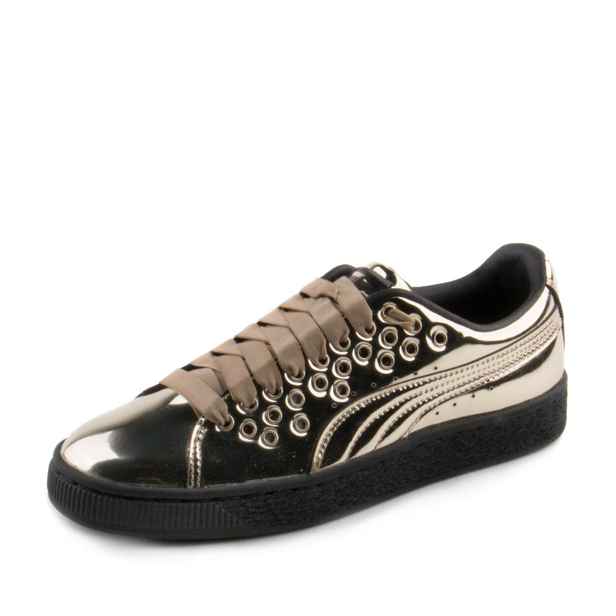Puma Womens Basket XL Lace Metal gold 364536-03