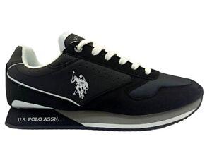 Scarpe uomo US Polo ASSN 4183 sneakers casual sportive basse leggere comode nere