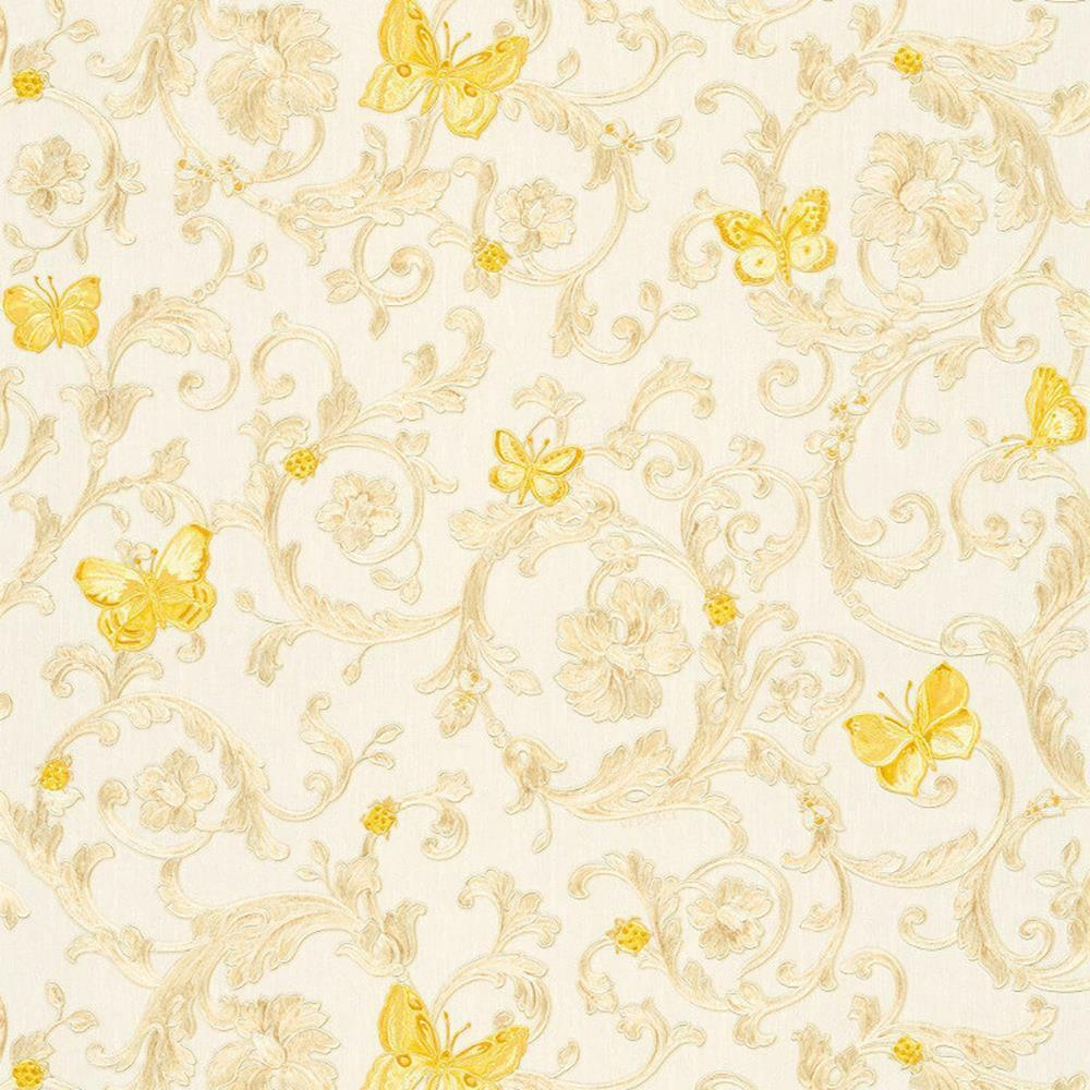 343251 Versace Butterflies Bees Ladybirds White Gold As Creation