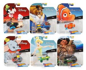 2019-Hot-Wheels-Set-of-6-Disney-Pixar-Character-Cars-Series-3-1-64-Diecast-Cars