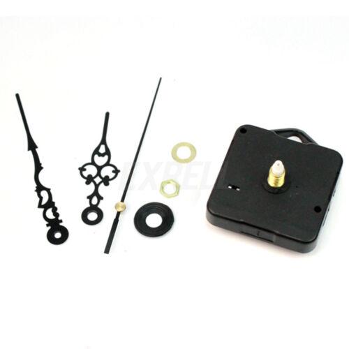 Quarz-Wanduhr Bewegungsmechanismus Black Hands DIY Ersatzteile Schwarz