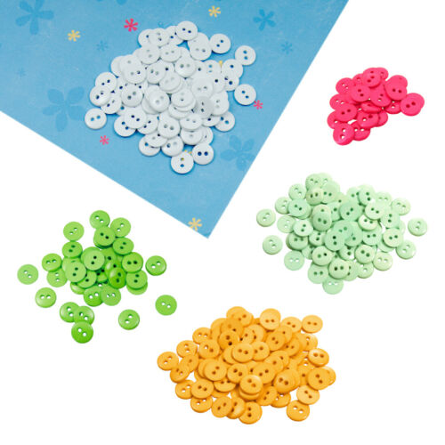 Favorite Findings Round Plastic 2-Hole Craft Sewing Scrapbook Buttons 11mm Loose
