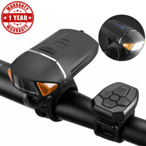 2in1-Horn-Bicycle-Bike-Headlight-Front-Lights-USB-Rechargeable-LED-Wireless-Lamp