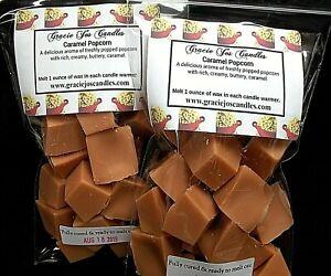 CARAMEL-POPCORN-Scented-Tart-Wax-Melts-Chunks-Candle-Fall-Autumn-Halloween-Scent