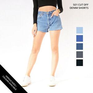 Grado A Levis 501 Vintage Mujer Cintura Alta Denim Shorts Talla 6 8 10 12 14 16 Ebay