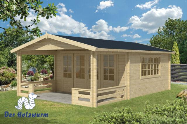 Gartenhaus Wigan Blockhaus 540x763 cm Holzhaus 58mm Holz Gerätehaus Terrasse Neu