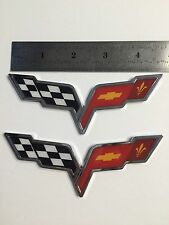 Chevrolet Corvette C6 Z06 Grand Sport GM Chrome Emblem Crossed Flags SS