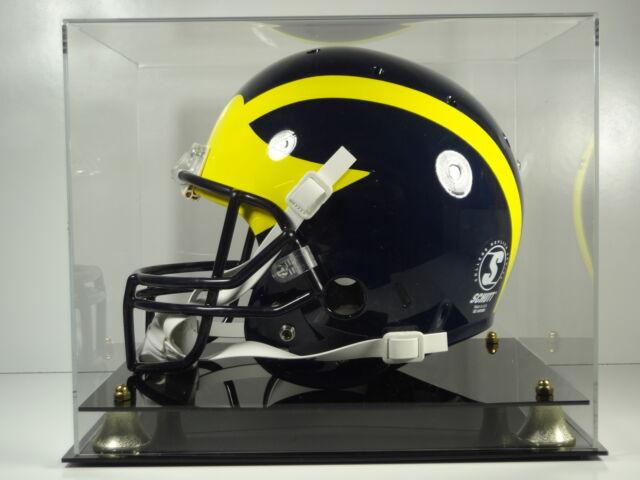 Football helmet NCAA college acrylic full size memorabilia display case 85% UV