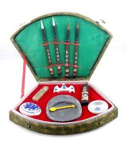 11-Piece-Juego-Chino-Tradicional-Escritura-Tools-Caja-de-Regalo-Nuevo-02221402