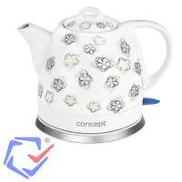 Keramik-wasserkocher 1l Design Retro Schnurlos Elektrischer Teekessel Concept