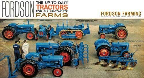 Fordson potencia la colección Gama estable principales Dexta FOLLETO cartel anuncio A3