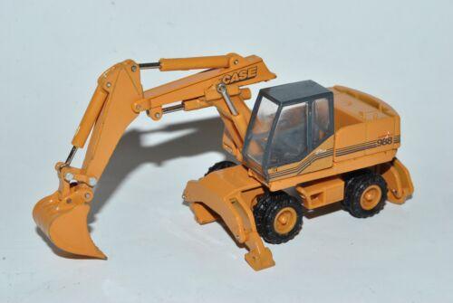 CASE 988 Hyder Escavatore radbagger baufahrzeug h0 1//87 Cararama Modello Auto con O..