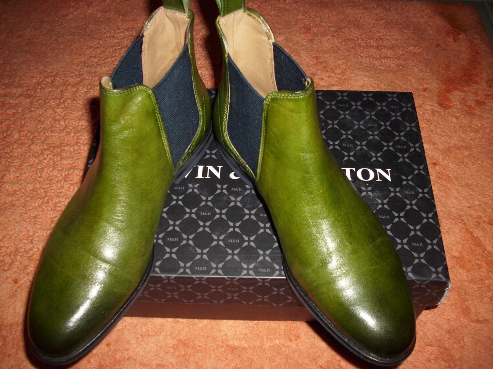 Melvin & Hamilton Leder Leder Leder Stiefeletten Gr.36,Farbe Ultra Grün..NEU mit Karton b927a8