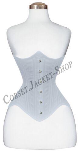 30 Double Steel Boned Under Bust Waist Training Wider Hips Cotton Corset MCC19
