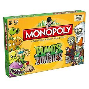 Monopolio Plants Vs Zombies Juego De Mesa Incluye Exclusivo Jugando