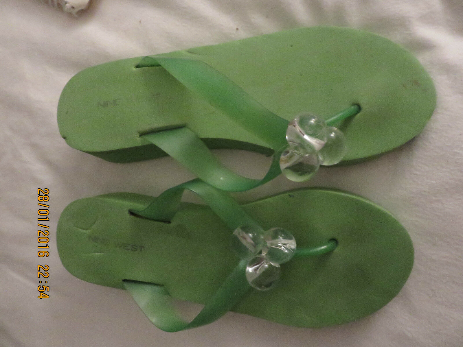 GREEN SIZE NINE WEST WEDGE SANDALS SIZE GREEN 38 0fd584