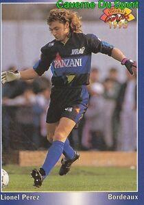 036 Lionel Perez Girondins Bordeaux Card Carte Football 1995 Panini Jmbduj3f-08013102-163475217