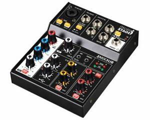 Italian-Stage-Is-2MIX3UB-Mixer-Compact-A-3-Canali-avec-Effets-Echo-Integres