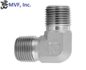 """1/2"""" Male NPT X 1/2"""" Male NPT 90° Elbow 316S/S Instrument Brewing <5500-08-08-SS"""