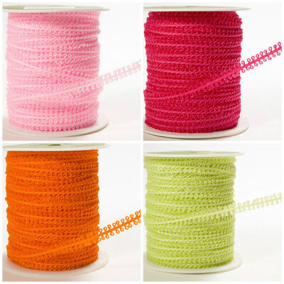3//16 Inch String Looped Ribbon pink price for 2 yards//select color