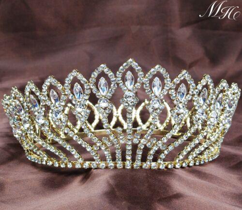 Flower Full Crown Wedding Rhinestones Tiara Headband Pageant Prom Hair Jewelry