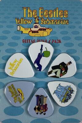 DAddario Beatles Guitar Picks Medium Yellow Submarine 5 Designs Fab Five 10 Pack