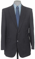 AWESUM_GR8_FABRIC_NWT ISAIA HAND_MADE_SUPER_120s_SUIT_DARK_NAVY_PIN 39-40R 12164