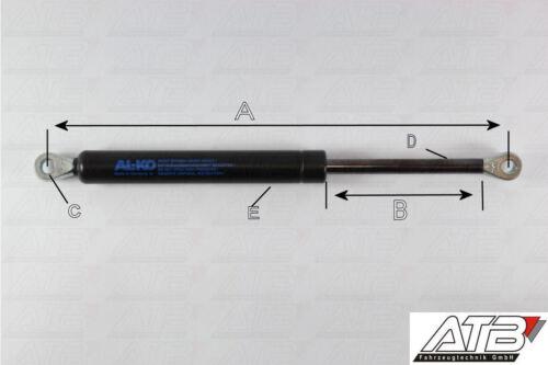 350mm Hub ALKO Gasfeder Gasdruckdämpfer Gesamtlänge 790mm 800N Kraft