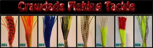 Minnow Brush Swim Jig Football 10 Pack of Fishing Skirts For Spinnerbaits
