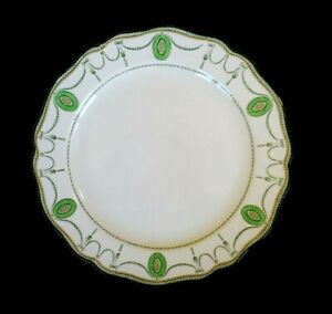 Beautiful-Royal-Doulton-Countess-Green-Rim-Dinner-Plate-Circa-1920