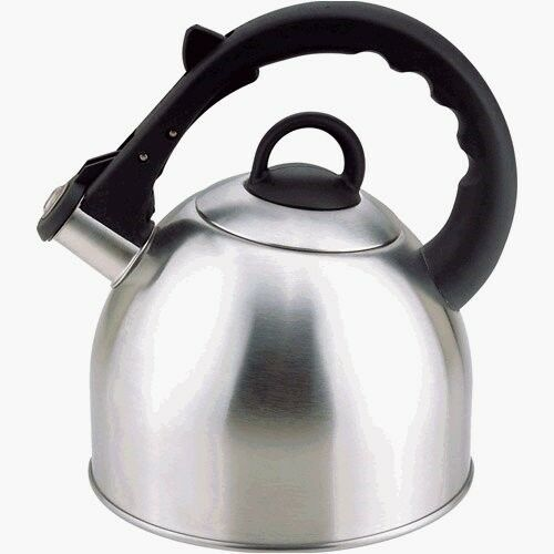 2.5-Quart Satin Finish Culinary Edge 50402 Whistling Tea Kettle