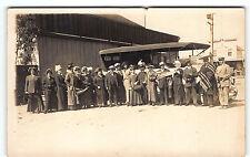 1915 California MEXICO US BORDER Tijuana Real Photo POSTCARD RPPC Tourists AUTO