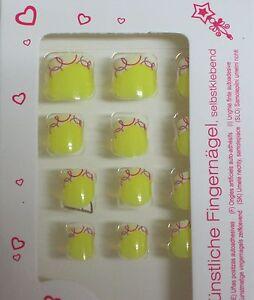 |Ku00fcnstliche Fingernu00e4gel/ Kunstnu00e4gel/ Nagel Tips / Selbstklebend Fu00fcr Kinder /ax* | EBay