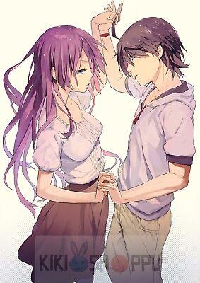Poster A3 Monogatari Koyomi Araragi Hitagi Shojo Manga Anime Cartel Decor 02
