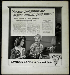 WWII-SAVINGS-BANK-of-NEW-YORK-STATE-I-039-M-NOT-THROWING-MY-GENUINE-BOND-POSTER