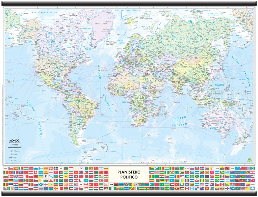 Cartina Mondo Con Bandiere.Mondo Con Bandiere Carta Murale 91x70 Cm Aste In Plastica Belletti Ebay