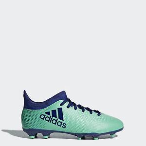 406b53102 Adidas X 17.3 fg kids junior sock football boot tech fit Aero Green ...