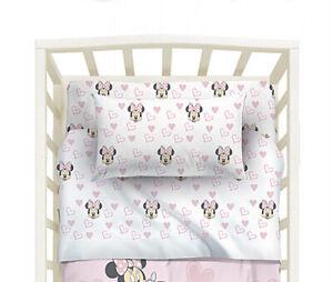 Set Lenzuola Minnie Fairy Topolina Per Lettino Neonato Baby Rosa Disney Caleffi Ebay