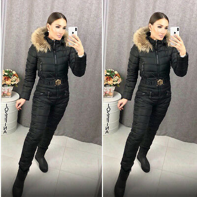 UPS DELIVERY Suit Winter for Woman Outwear Sport Outfit Warm Skisuit Overall Jumpsuit One Piece women ski suit Jumpsuit suit black outfit