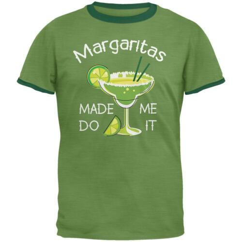 Cinco de Mayo Margaritas Made Me Do It Mens Ringer T Shirt
