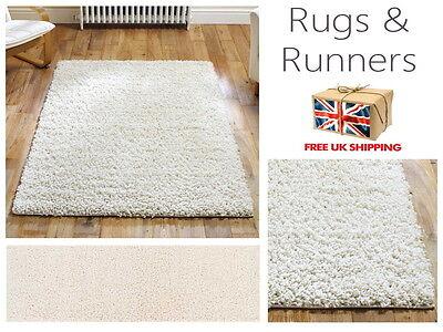 Elsa Mink Shaggy Plain Fluffy Rugs /& Hall Runners Mats All Sizes