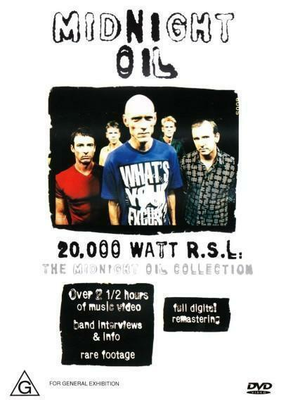 MIDNIGHT OIL 20,000 Watt R.S.L. The Collection DVD BRAND NEW PAL Region All