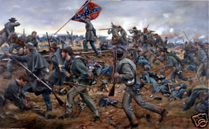 034-Onward-Georgians-034-Don-Troiani-Civil-War-Battle-of-Fredericksburg-Canvas-Giclee