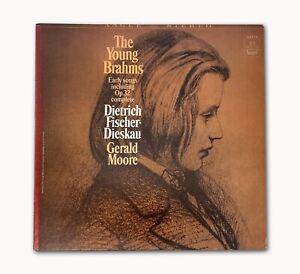 Vintage 1965 The Young Brahms Early Songs Dietrich Fischer-Dieskau Angel LP Mint