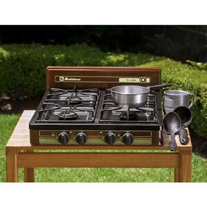 KOBLENZ-4-BURNER-PROPANE-GAS-Cooktop-Stove-Portable-Outdoor-Camping-18-034-x-24-034