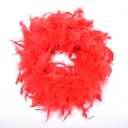 2M Fur Strips Ribbon Feather String Shiny Sewing Trimming Craft Fluffy Decor UK