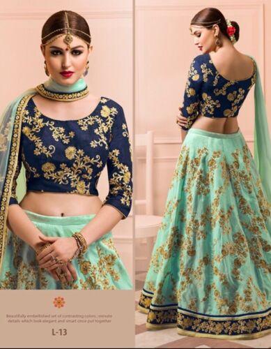 Bollywood Pakistani Indian Silk lehenga choli dupatta Wedding dress Ghagra Saree