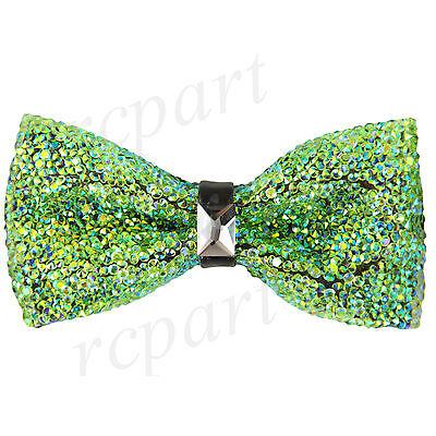 New in box Brand Q Men/'s Crystal Pre-tied Bow Tie Black formal wedding